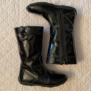 Stride Rite Mira Patent Leather Tall Boot